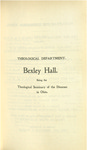 Theological Department Bexley Hall Course Catalogue 1901-1902