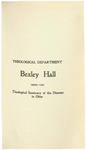 Theological Department Bexley Hall Course Catalogue 1902-1903