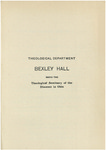 Theological Department Bexley Hall Course Catalogue 1904-1905