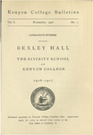 Kenyon College Bulletin V. 1 No. 1 - Catalogue Number Bexley Hall 1906-1907