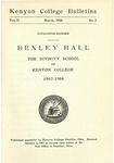 Kenyon College Bulletin V. 2 No. 2 - Catalogue Number Bexley Hall 1907-1908