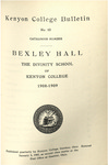 Kenyon College Bulletin No. 10 - Catalogue Number Bexley Hall 1908-1909