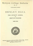 Kenyon College Bulletin No. 15 - Catalogue Number Bexley Hall 1909-1910