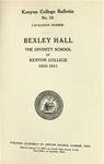 Kenyon College Bulletin No. 19 - Catalogue Number Bexley Hall 1910-1911