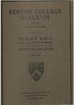 Kenyon College Bulletin No. 76 - Catalogue Number Bexley Hall 1921-1922