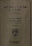 Kenyon College Bulletin No. 80 - Catalogue Number Bexley Hall 1922-1923