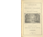 Catalogue of Kenyon College and of the Theological Seminary 1878-1879