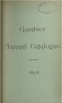 Gambier Annual Catalogue 1887-1888
