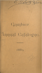 Gambier Annual Catalogue 1888-1889