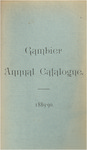 Gambier Annual Catalogue 1889-1890