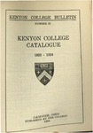 Kenyon College Bulletin No. 83 - Kenyon College Catalogue 1923-1924