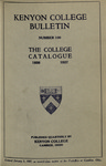 Kenyon College Bulletin No. 100 - The College Catalogue 1926-1927