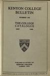 Kenyon College Bulletin No. 105 - The College Catalogue 1927-1928