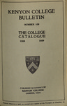 Kenyon College Bulletin No. 109 - The College Catalogue 1928-1929