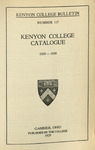 Kenyon College Bulletin No. 117 - The College Catalogue 1929-1930