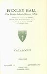 Bexley Hall Catalogue 1961-1962