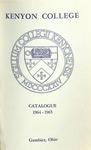 Kenyon College Catalogue 1964-1965