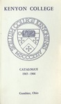 Kenyon College Catalogue 1965-1966