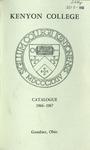 Kenyon College Catalogue 1966-1967