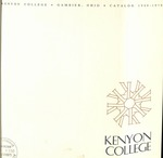 Kenyon College Catalog 1969-1970