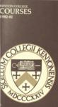 Kenyon College Courses 1980-1981
