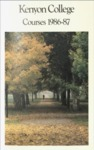 Kenyon College Courses 1986-87