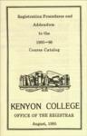Course Catalog Addendum 1985-1986
