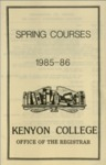 Spring Courses 1985-1986
