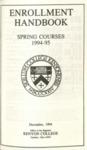 Enrollment Handbook Spring Courses 1994-1995