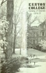 Kenyon College Catalog of Courses 1976-1977