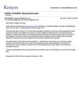 Kenyon News Bulletin March 22, 2020