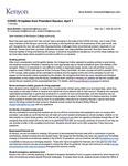 Kenyon News Bulletin April 1, 2020