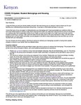 Kenyon News Bulletin May 1, 2020