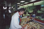 Gloria Troy of Mount Vernon shops for quality and fresh foods.