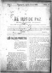 EL IRIS DE PAZ 31 de agosto de 1901