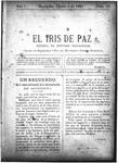 EL IRIS DE PAZ 3 de agosto de 1901