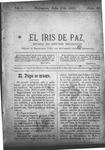 EL IRIS DE PAZ 6 de julio de 1901