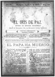 EL IRIS DE PAZ 1 de agosto de 1903