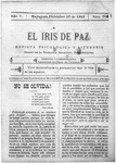 EL IRIS DE PAZ 16 de diciembre de 1905