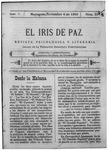 EL IRIS DE PAZ 4 de noviembre de 1905