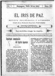 EL IRIS DE PAZ 22 de julio de 1905