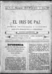 EL IRIS DE PAZ 22 de abril de 1905