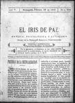 EL IRIS DE PAZ 18 de febrero de 1905