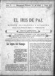 EL IRIS DE PAZ 11 de febrero de 1905