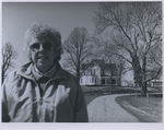 Joan Cassell in front of her Home
