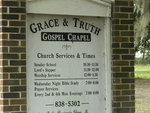 Grace and Truth Chapel Sign