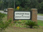Kingdom Hall of Jehovah Witness Sign