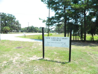 New Life in Christ Church Sign