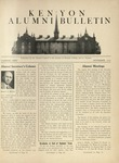 Kenyon Alumni Bulletin - November 1942