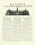 Kenyon College Alumni Bulletin - October 1949